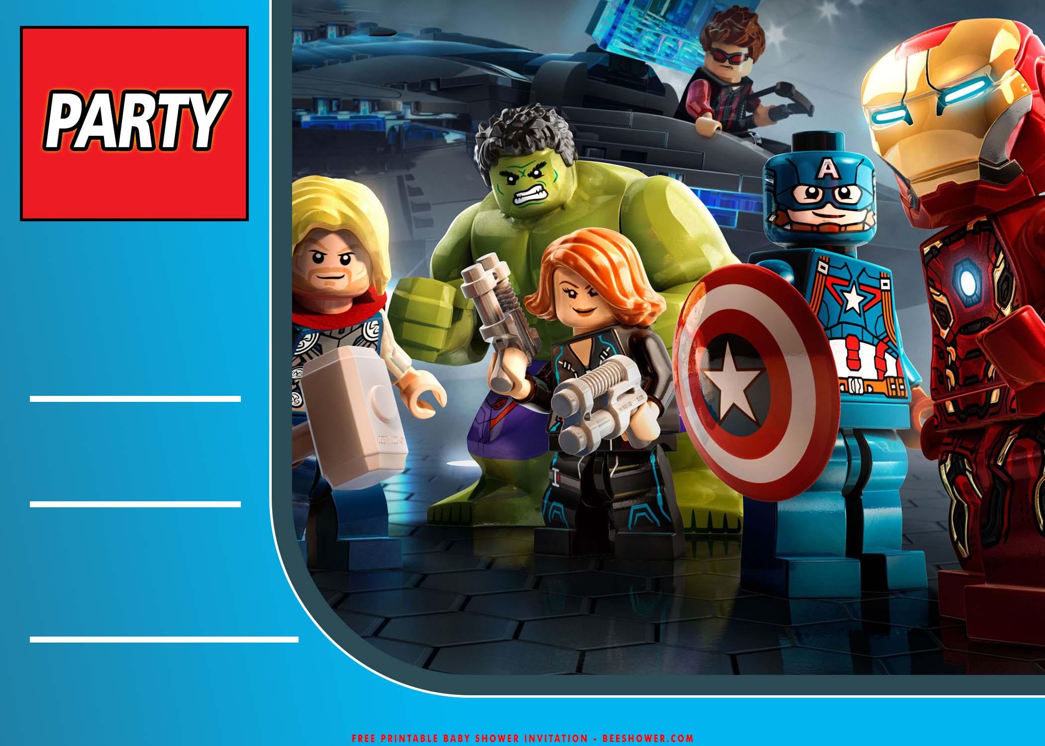 free printable lego avenger birthday