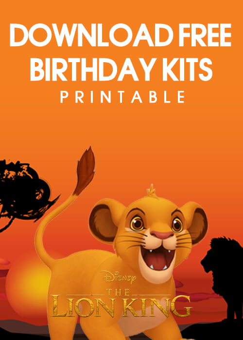 lion king birthday invitation templates