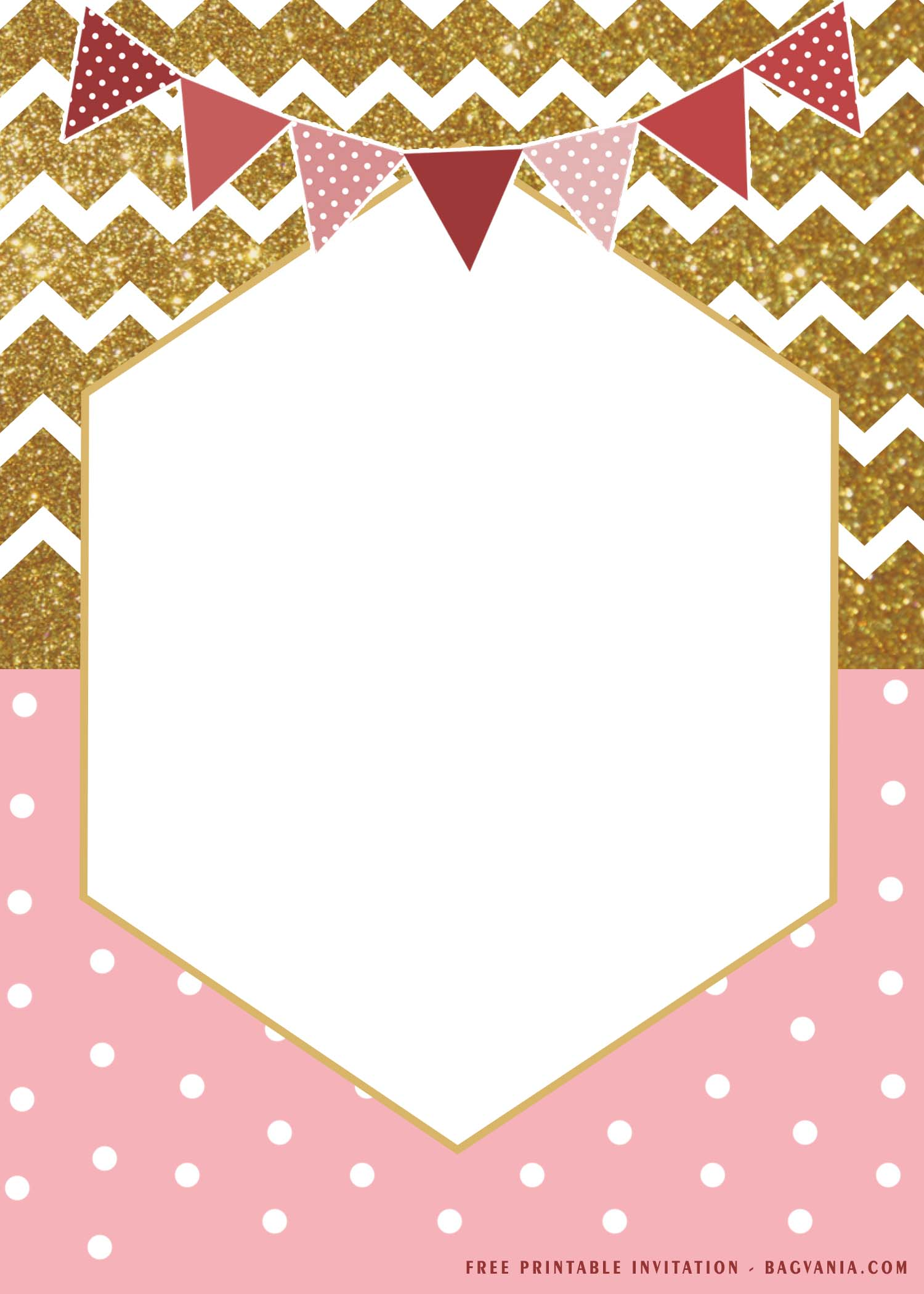 free printable gold and pink chevron