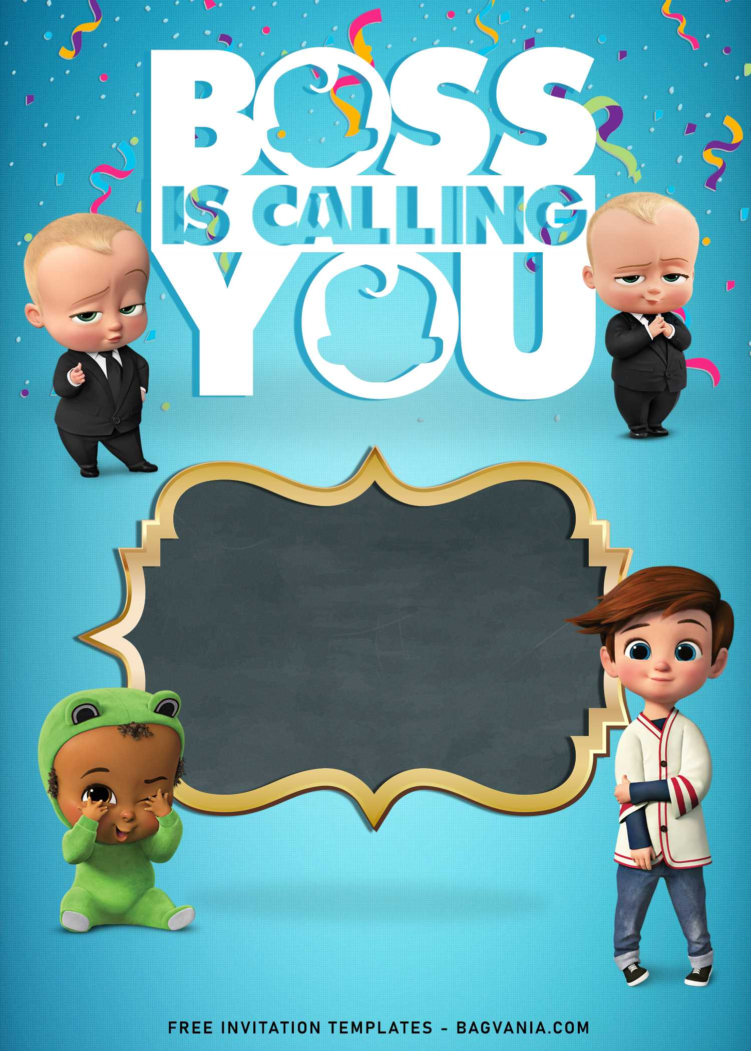 awesome boss baby birthday invitation