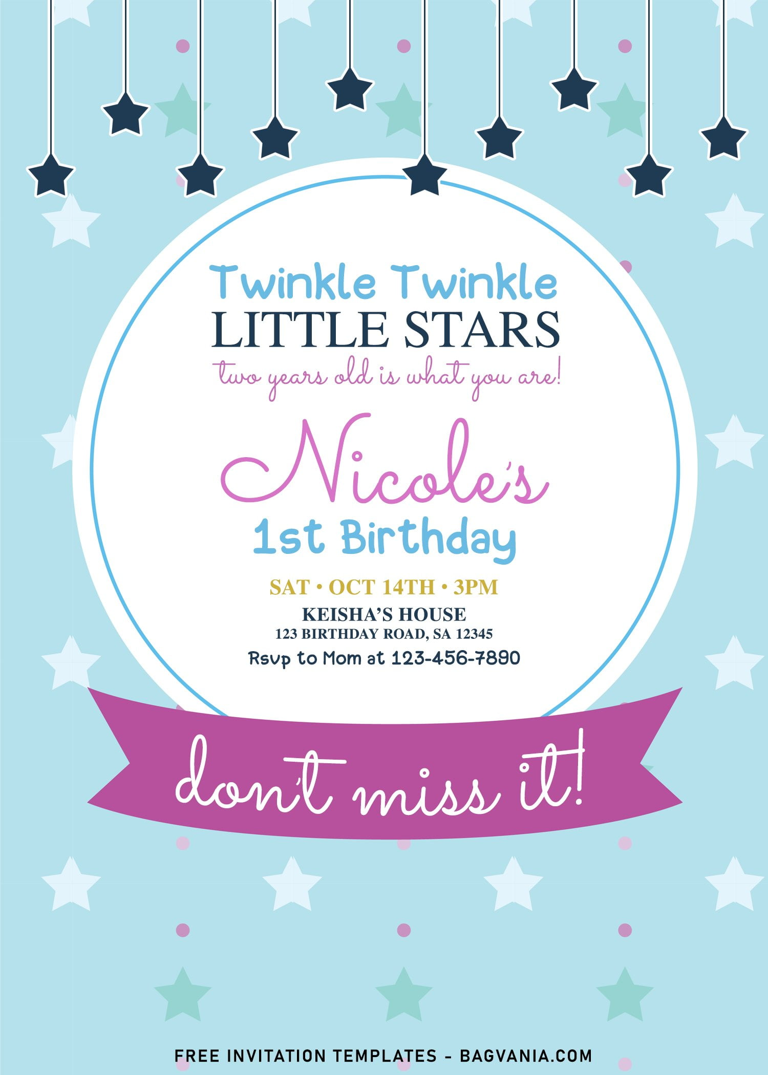 https www bagvania com 7 twinkle twinkle little stars birthday invitation templates for any ages html