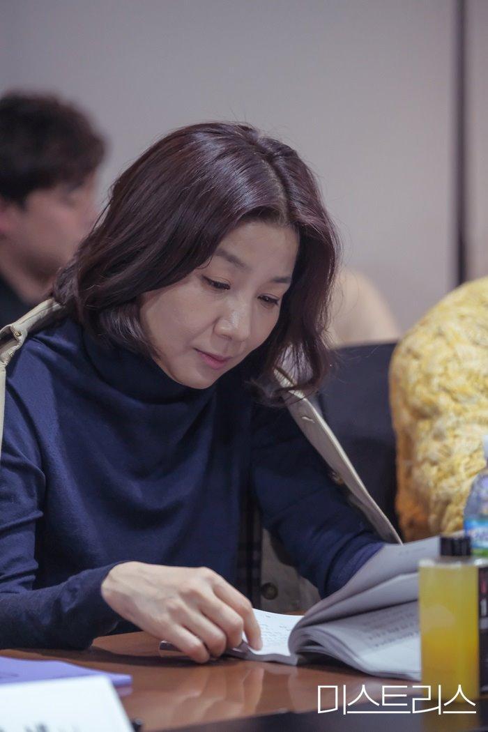 Script Reading for the Korean Drama Mistresses starring Han Ga-in, Shin Hyun-bin, Choi Hee-seo, and Goo Jae-yee
