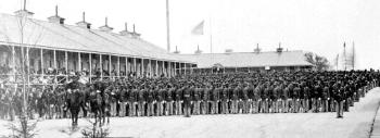26 القوات الأمريكية على العرض الملونة ، 1865. مكتبة الكونغرس.
