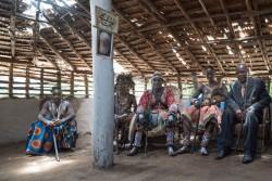 Chefs du village de Ditalala, République démocratique du Congo