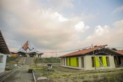 Des progrès importants ont été réalisés ces dernières semaines dans la construction de l'édifice central du temple et de ses bâtiments annexes.