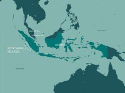 Les îles Mentawaï sont un groupe de 70 îles et îlots à l'ouest de la côte de l'île indonésienne de Sumatra.