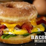 The Farmland Bacon Donut Breakfast Sandwich