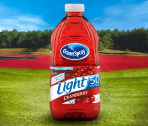 Light Cranberry Juice Drink