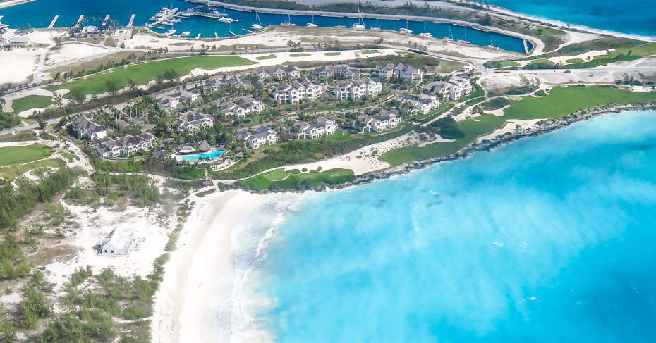 The Grand Isle Resort at Emerald Bay, Bahamas. Is an exclusive resort on Exuma Island, one of the Bahamas Out Islands. With a whitesand beach and championship Emerald Bay golf course. Take flights to Great Exuma with Bahamas Air Tours.