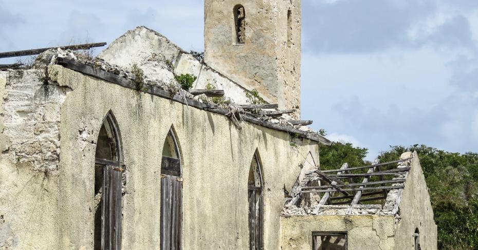 Long Island Bahamas St Marys Church, the oldest church in the Bahamas