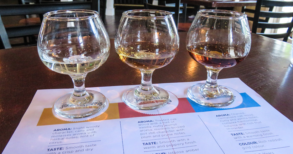 Rum Tasting at John Watlings Distillery. The distillery was the filming location for James Bond's 007 Casino Royale film in 2006. Top things to do in Nassau Bahamas.