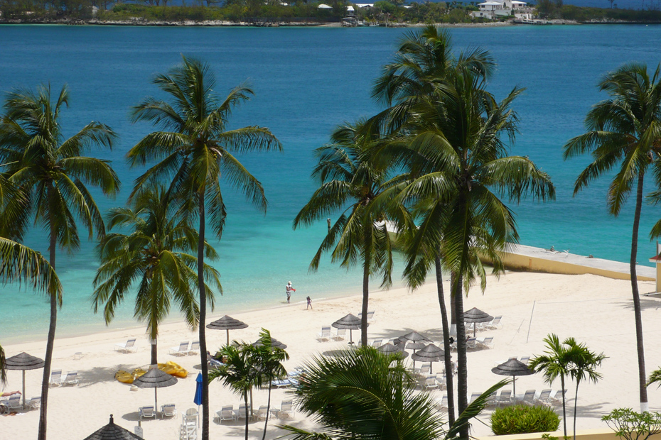 Hilton British Colonial one of the best beaches in Nassau Bahamas