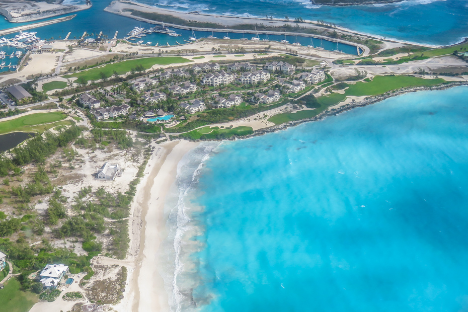 The Grand Isle Resort at Emerald Bay, Bahamas. Is an exclusive resort on Exuma Island, one of the Bahamas Out Islands. With a white sand beach and championship Emerald Bay golf course. Take flights to Great Exuma with Bahamas Air Tours.