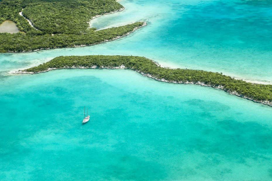 How to get to Exuma Bahamas, to explore the Thunderball Grotto at Staniel Cay on a Bahamas Day Trip operated by Bahamas Air Tours.