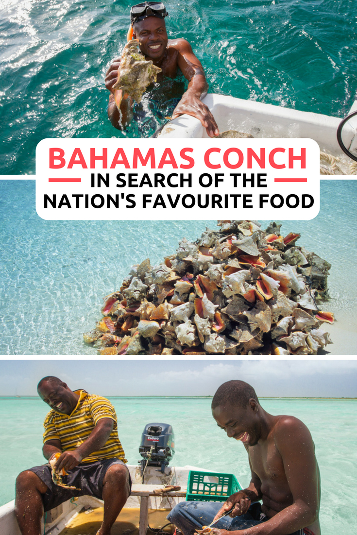 The ultimate Bahamas Food: Conch. The Bahamas Conch is one of the nation's favourite foods that every visitor to the Bahamas Islands should visit. Whether you are staying in Nassau, Paradise Island or Atlantis; head to the local fish fry for the Bahamas Conch Salad. Learn more about all things conch with our Conch Salad recipe #bahamas #conchsalad #conch