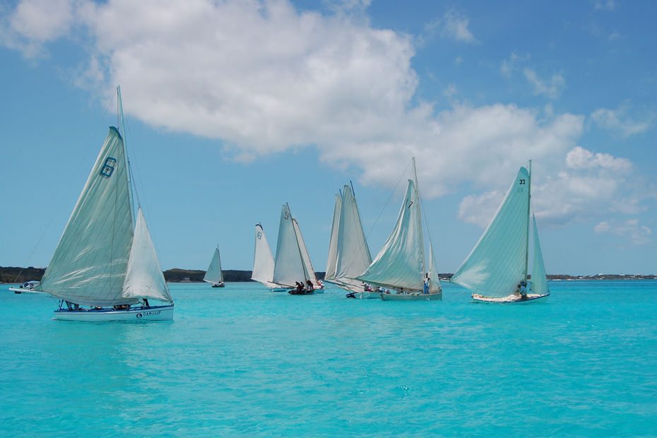 Sailing Bahamas in the Exumas, Elizabeth Harbour, Family islands regatta Elizabeth harbour great exuma