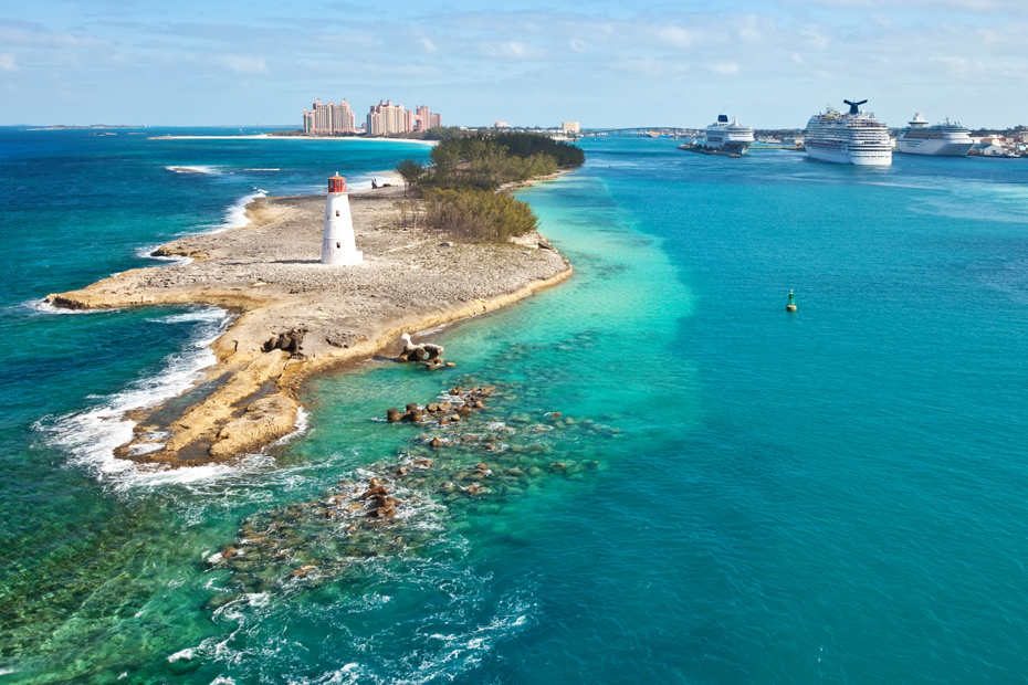 Nassau Cruise Excursions to the Exumas Staniel Cay and the Bahamas Swimming Pigs by plane