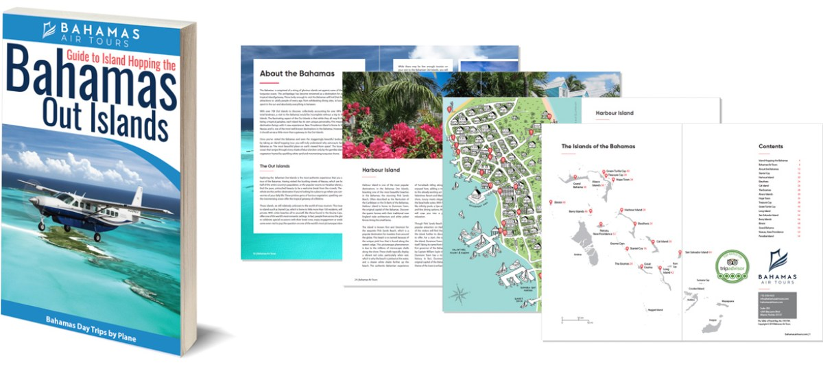 Discover the Bahamas with this informative Bahamas Travel Guide. Fly from Florida to Bahamas with Bahamas Air Tours on their unique Bahamas Day Trips and Bahamas Tours to the amazing Bahamas Out Islands.