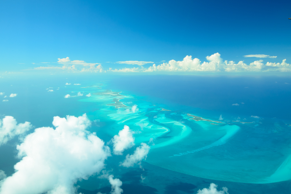 Astronauts say the view above the Exumas is the best view in the world. When taking a trip to Bahamas and going from Florida to Bahamas by plane, we will help you find the best Florida to Bahamas flights.