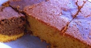 Mısır unu ve keçiboynuzu unlu kek