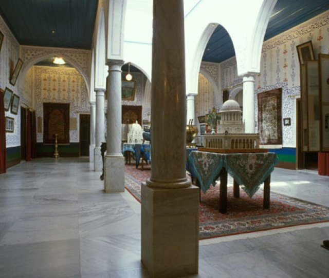 The Central Hall Of The Upper Floor Of The Mansion At Bahji After The Mansion