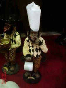 Tuvalet Kağıtlık Maymun Maketi