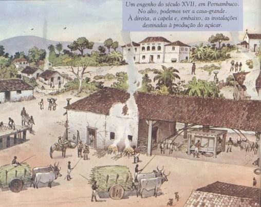 Um engenho em Pernambuco no século XVII.