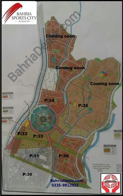 Bahria Town Karachi New Map