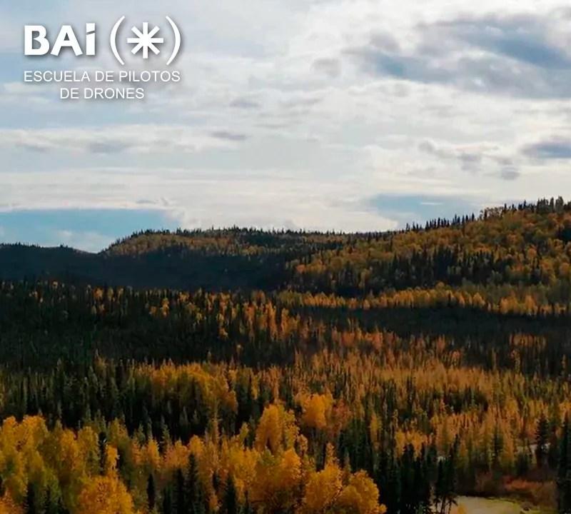 Alaska a vista de Dron