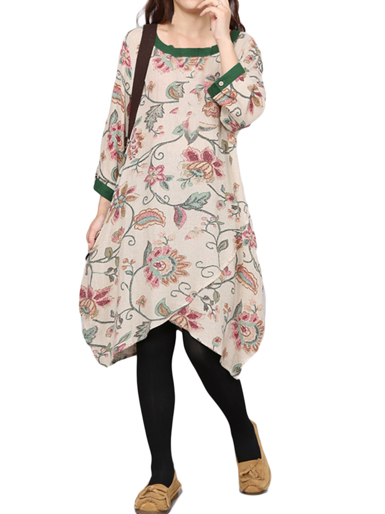 Floral Long Sleeve Women Dress