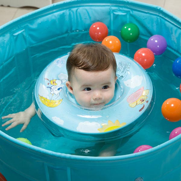 Baby Swimming Neck Float Ring Safety Aid Tube Infant Swim Bath Laps