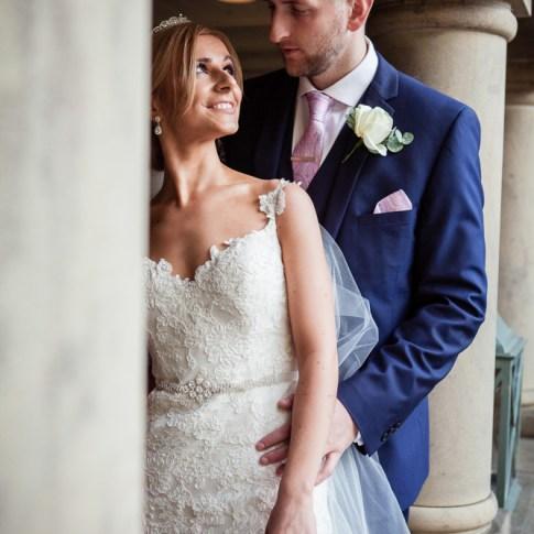 Holdsworth House wedding photography bride and groom at Halifax wedding venue