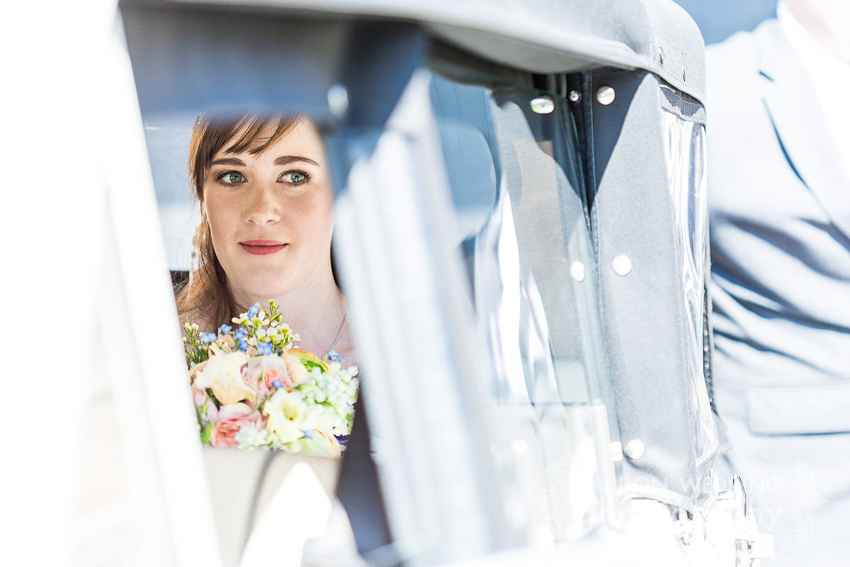 bride arrival