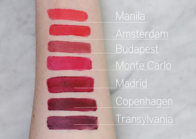 on-arm swatch of nyx soft matte lip creams