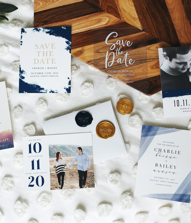 Wedding Wednesday: Prepping + Designing Save-the-Dates with Basic Invite