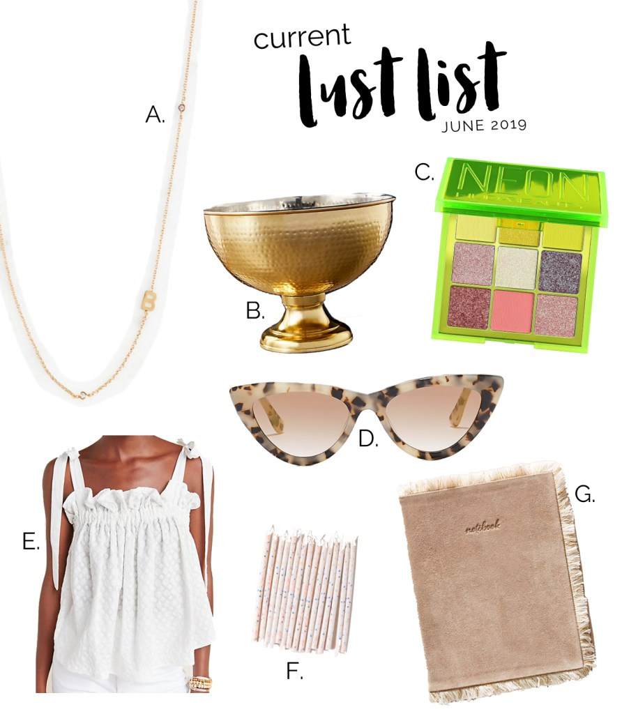 June 2019 lust list of things I want to buy