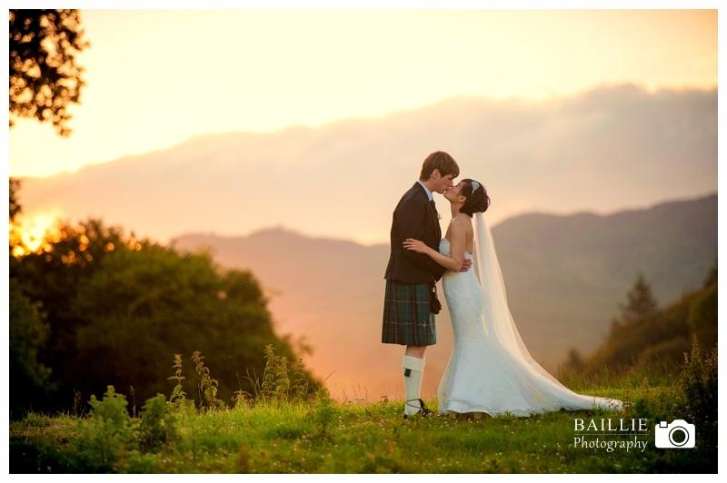 Dumfries Wedding Sunset
