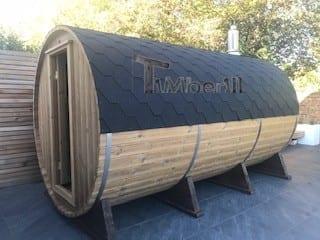 Outdoor Barrel Round Sauna, Heather, Chelmsford, Essex, U (2)