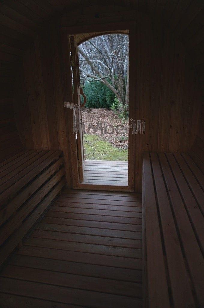 Sauna Barique En Bois De Méleze Avec Une Poêle De Bois, Avec La Fenêtre Panoramique, Thierry, Chemin Oianetxeberria, France (1)