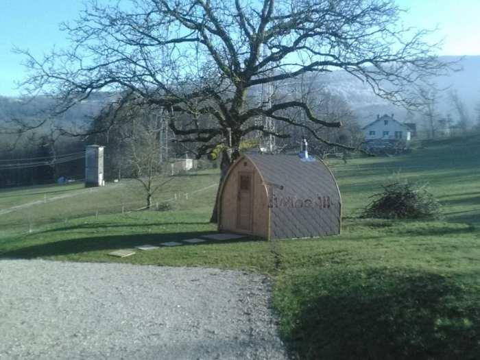 Jardin Extérieur Sauna En Bois Igloo Design, BOURGUIGNON, France (2)