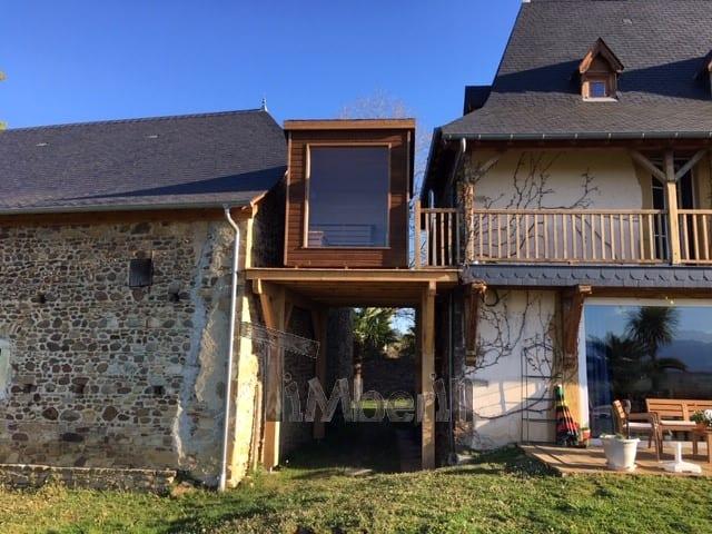 Moderne Sauna D'extérieur, Jean Marc, Saucede, France (7)