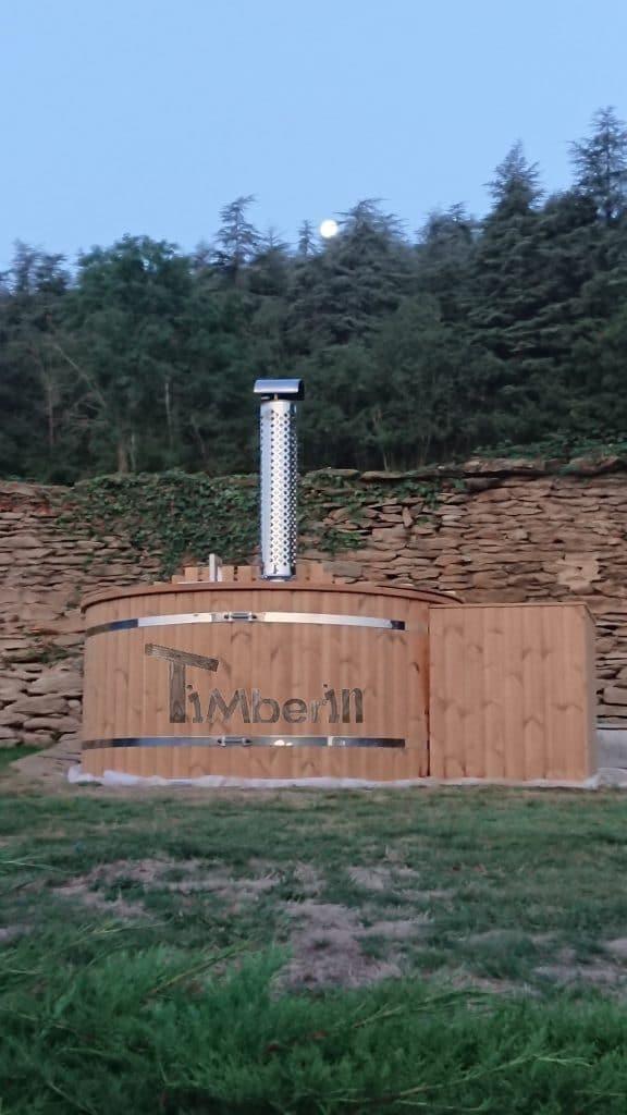 Jacuzzi Extérieur En Thermo Bois Deluxe, Pierre, Lyon, France