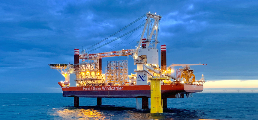 Fred Olsen Windcarrier awarded T&I contract by CSBC-DEME Wind Engineering for Changfang and Xidao wind farm in Taiwan