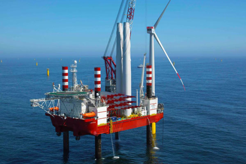 Seajacks bags installation work for Japanese wind farms