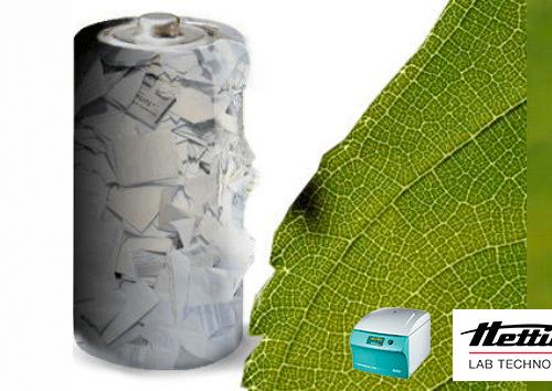 Adaptador para centrífuga y recipiente de muestras para la determinación del valor de retención de agua en la fabricación de celulosa y de papel