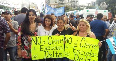 """Merlo y Tigre le dicen """"NO"""" al cierre de escuelas en el Delta"""