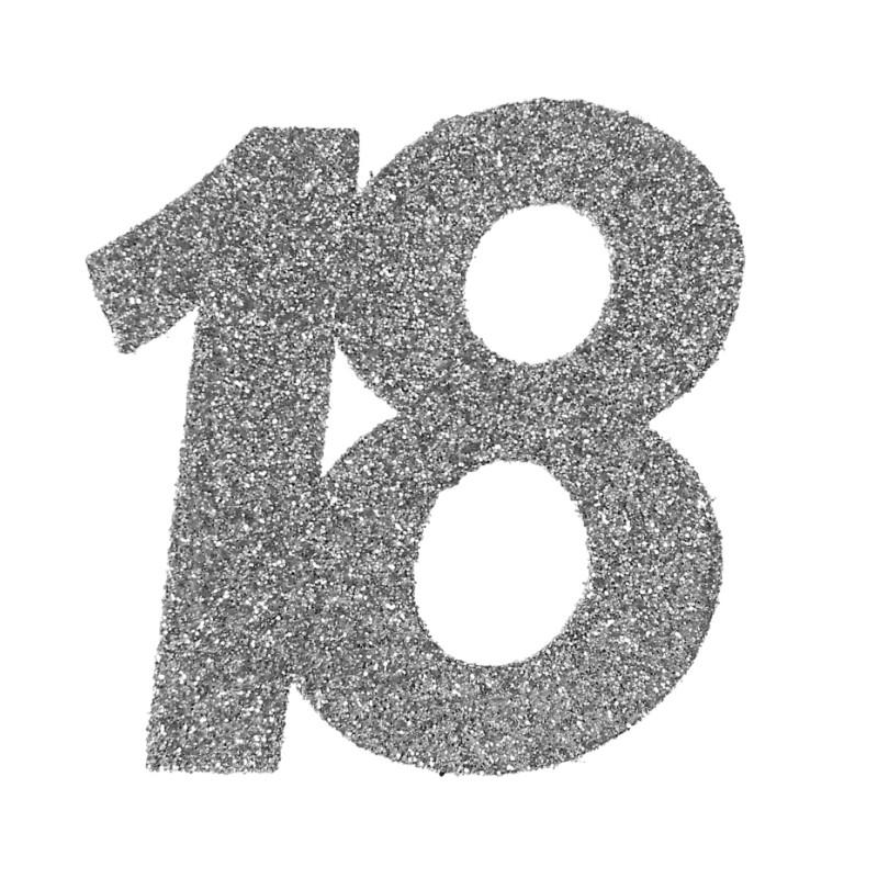 Confettis Anniversaire 18 Ans Argent Paillet Les 6