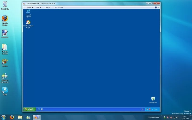 Windows XP dentro do Windows 7.
