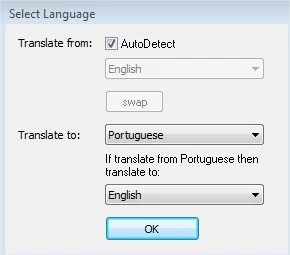 Configure as opções do cliente do Google Translate