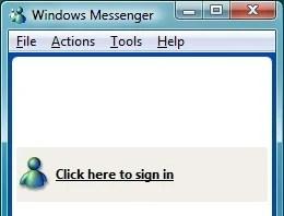 O Windows Messenger, versão para o Windows XP, a grande novidade da época.
